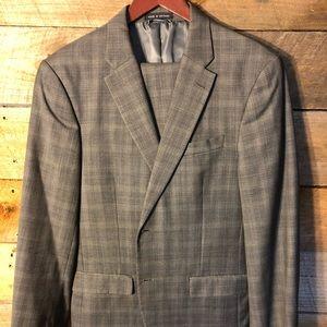 Men's grey plaid suit